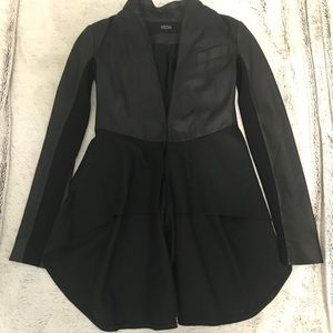 Veda leather high-low Jacket